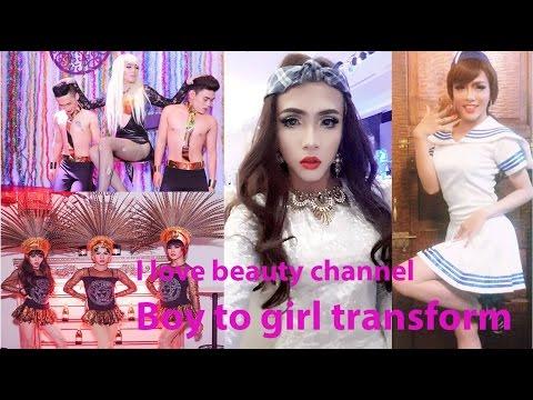 Top video Crossdresser Transgenders Boy to girl Gay pride LGBT Makeup ✔