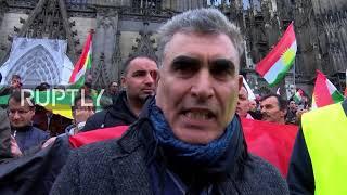 Germany: Thousands of Kurdish protesters rally against Iraqi seizure of Kirkuk