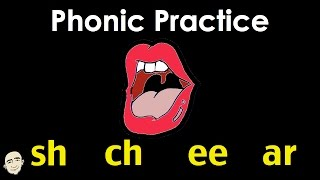sh ch ee ar | English Phonic Sounds | Easy Pronunciation Practice | ESL/EFL