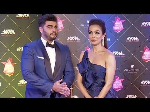 Xxx Mp4 Malaika Arora With Her Rumoured Boyfriend Arjun Kapoor At Femina Beauty Awards 2018 Red Carpet 3gp Sex