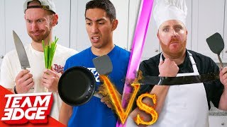 Amateurs vs One-Handed Chef!   Can They Beat a Pro??
