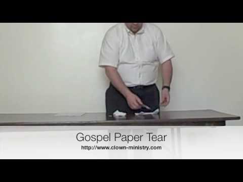 Gospel Paper Tear