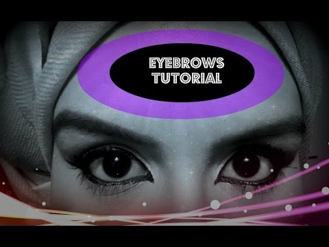 Eyebrow Tutorial for Muslim Girls 2014 (without plucking)
