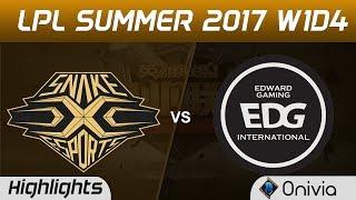 SS vs EDG Highlights Game 1 LPL SUMMER 2017 Snake vs Edward Gaming by Onivia