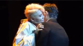 Junsu kissing as Dorian Gray and Death