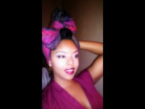 How To Wear a Headwrap | Turban Style and Bow Scarf