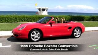 1999 Porsche Boxster Convertible Guards Red Community Auto Sales Palm Beach