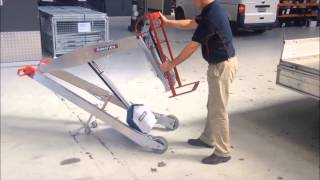 MAKINEX® Powered Hand Truck PHT140 Strap-Frame Module set up