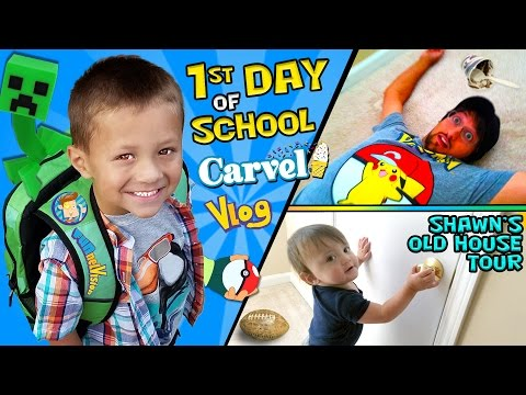 CHASE S 1st Day of SCHOOL Shawn s Old House Tour w Carvel Ice Cream FUNnel Vision Vlog