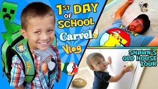 CHASE'S 1st Day of SCHOOL! + Shawn's Old House Tour w/ Carvel Ice Cream (FUNnel Vision Vlog)
