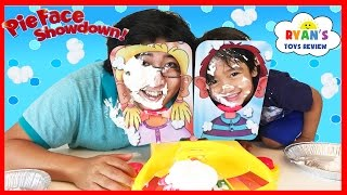 PIE FACE SHOWDOWN CHALLENGE and Egg Surprise Toys for winner!