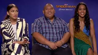 Spider-Man Homecoming Zendaya, Laura Harrier & Jacob Batalon Interview