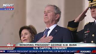 VERY MOVING: President George H.W Bush And Family Enter U.S. Capitol Ceremony