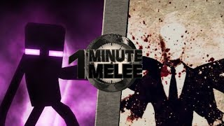 One Minute Melee S6 EP12 (Sub Español) - Enderman VS Slenderman (Minecraft VS Creepypasta)
