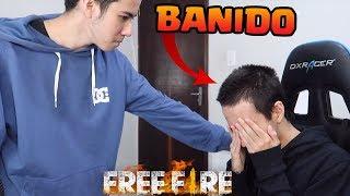 FUI BANIDO POR USAR HACK NO FREE FIRE (trollagem)
