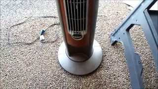 Tower fan squeaks when oscillating - the fix