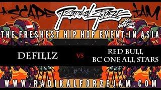DEFICCZ vs RED BULL BC ONE ALL STARS   TOP 4 BBOY 4on4   RADIKAL FORZE JAM 2018