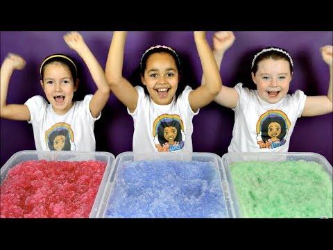 Super Slushy Gelli Baff Toy Challenge | Disney Frozen Fashems Prizes | Shopkins