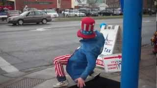 uncle sam learning how to break dance