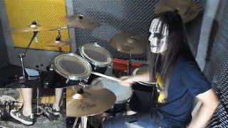 Slipknot - Surfacing Drum Cover With Joey Jordison Mask drum play-through by Jordan