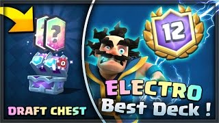 The BEST Electro Wizard Deck! (12-0 Easily!) +  Draft Chest Opening!