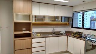 Cozinha Planejada com Área de Serviço - Marcenaria de Móveis Planejados