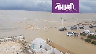 الفيضانات تغرق مدن تونسية