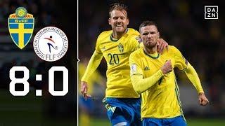 Mit Viererpack! Berg öffnet Tür zu WM: Schweden - Luxemburg 8:0 | Highlights | WM-Quali | DAZN