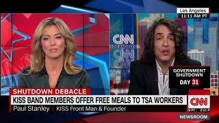 Paul Stanley & Gene Simmons offer free meals to TSA workers during government shutdown
