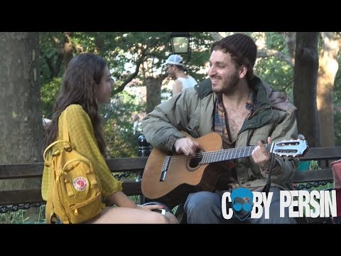 Homeless Man Picks Up Girls With Amazing Voice