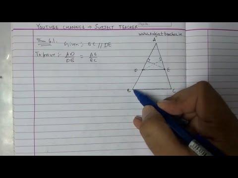 Xxx Mp4 Triangles Chapter 6 Theorem 6 1 Class 10 Maths NCERT Math Tutor 3gp Sex