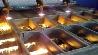 Flame Cutting at Masteel UK LTD 140 mm thk A387 Grade 11