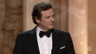Colin Firth winning Best Actor
