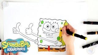 SpongeBob SquarePants   🖍️ COLORING SpongeBob!! 🖍️   Nick