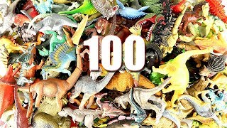 Learn 100 Dinosaurs! You Can See  Names and Sounds of Dinosaurs and 100 Numbers. T Rex, Triceratops