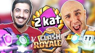 2 Kat İksir Mücadelesi ve Bir sürü SANDIK AÇILIŞI! - Clash Royale