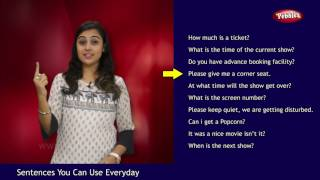 Hindi Sentences You Can Use Everyday | Movie Theatre | Hindi Sentences in English | Short Sentences