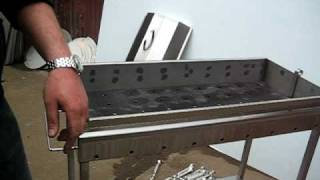Custom Stainless Charcoal Grill with Skewers