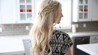 Half Up Side Braid | DIY | Cute Girls Hairstyles
