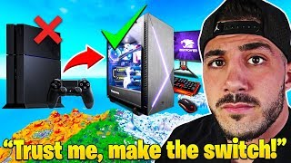 Nickmercs *IMPORTANT MESSAGE* to ALL Competitive CONSOLE PLAYERS! - Fortnite Moments