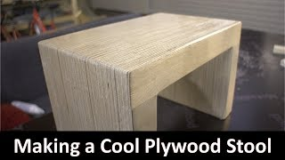Making a Cool Plywood Stool