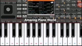 Jeeta Tha jiske liye | mobile piano tutorial on ORG