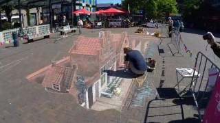 3D Straatje van Vermeer by Leon Keer