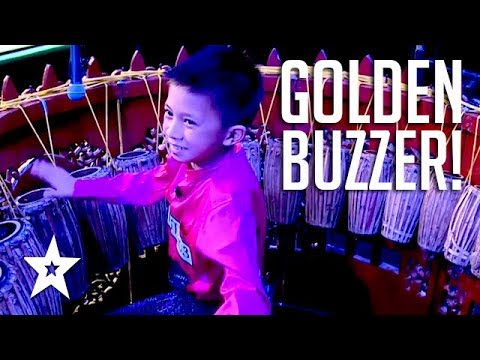 Xxx Mp4 12 YEAR OLD KID DRUMS His Way To A GOLDEN BUZZER On Myanmar S Got Talent 2018 3gp Sex