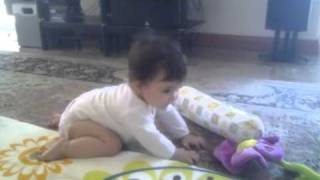 Cute baby dance! Mixed persian/chineese girl race!