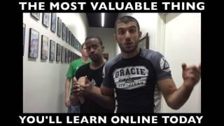 GJJ Blue Belt Teaches Rener an Amazing Technique!