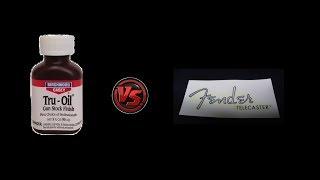 Boudreau Guitars - Tru-oil & waterslide decals, let