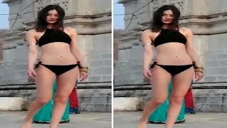 Controversy errupts after bikini clad model enters Udaipur temple