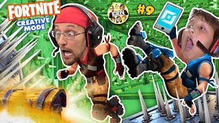 FORTNITE CREATIVE MODE! (FGTEEV Challenge Game: Dad vs Son) #9
