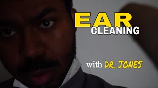 👂 Ear Cleaning Role Play (ASMR) with DR JONES Ear Wax Removal & Ear Cleaning Sounds (Binaural) 👂